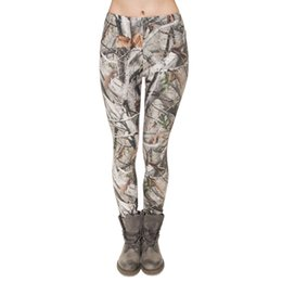 Pantalon Maigre Pour Dames Pas Cher-Lady Leggings Camo Tree 3D Graphic Digital Print Femme Skinny Stretchy Sport Gym Pants Yoga Girl Camouflage Fitness Soft Trousers (J31752)
