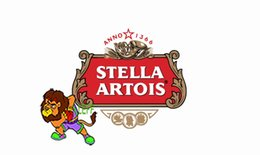 Chinese  Times beer Stella Artois logo flag, can custom print file,90X150CM size,100% polyster,100% polyester 90*150cm,Digital Printing manufacturers