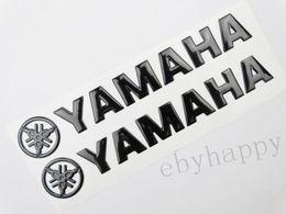 Vente en gros Logo de décalque emblème de réservoir de carburant noir de 14,5 cm pour autocollants de corps de moto yamaha