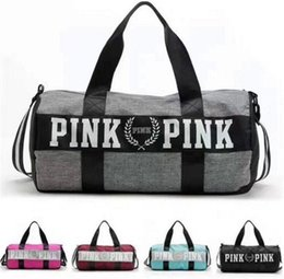 PoPular gym bags online shopping - HOT Large Capacity Popular Outdoor Pink Duffel  Bag Men Canvas 56f347cb05d4f