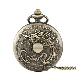 $enCountryForm.capitalKeyWord Canada - Unique Large Dragon Ball vintage Pocket Watch Bronze pendant necklaces Fob Watches Quartz Watches Men Women Punk jewelry Christmas Gifts