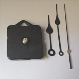 Ev Saatler DIY Kuvars Saat Hareketi Kiti Siyah Saat Aksesuarları Mili Mekanizması Tamir El Setleri ile Şaft Uzunluğu 13 En