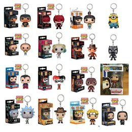 Marvel Heroes Toys Wholesale Canada - Stock Funko POP Gxhmy Marvel Super Hero Harley Quinn Deadpool Harry Potter Goku Spiderman Joker Game of Thrones Figurines Toy Keychain