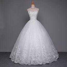 $enCountryForm.capitalKeyWord Canada - 2017 Lace Skirt Wedding Dress White Ivory Sexy Bridal Gowns Beautiful Nail Bead Back Strap Wedding Dress