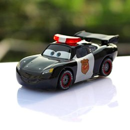 a01 0348 funny pixar cars diecast figure toy alloy car model for kids children toy black color police sally 1pcs police car toys for kids on sale