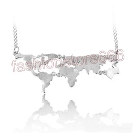 Shop world globe necklace uk world globe necklace free delivery to wholesale new fashion globe world map pendant necklace personality teacher student gifts earth jewelry free shipping gumiabroncs Gallery