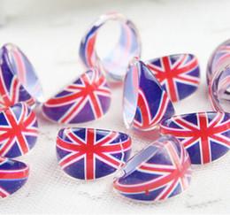 Jack Gifts Australia - New 100 pcs set Cartoon Union Jack Jewelry Acrylic Ring Children Cute Ring For Kid Gift Free Shipping