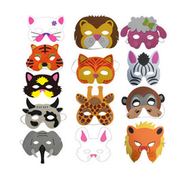 eva foam mask Australia - 2017 Assorted EVA Foam Animal Masks for Kids Birthday Party Favors Dress Up Costume Zoo Jungle Party Supplies