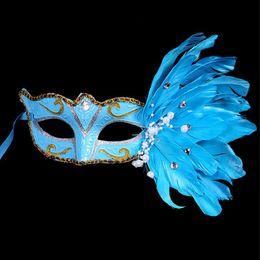 $enCountryForm.capitalKeyWord Australia - Masquerade Masks For Adults Venetian Feather Half Mask For Women Mardi Gras Masks Christmas Halloween Birthday Party Masks Free Shipping