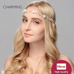 hair vine crystal NZ - headwear flowers wedding wedding accessories bridal headwear princess bride tiara hair accessories for girls wedding flower hair vines