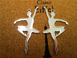 $enCountryForm.capitalKeyWord Australia - 6PCS--Ballerina Charms, Antique Tibetan Silver Tone Ballet Dancing Girl Charm Pendants 36x68mm