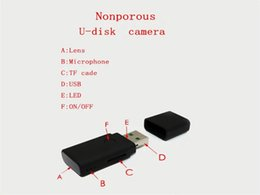 flash drive dvr NZ - USB Disk camera HD 1280*960 Mini DV USB Flash Drive DVR mini audio video recorder Motion Detection U Disk Video Camera black