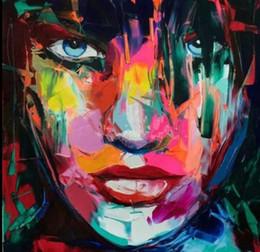 $enCountryForm.capitalKeyWord Australia - Framed Palette knife portrait Woman Face,High Quality genuine Hand Painted Wall Decor Pop Art Oil Painting On Quality Canvas Multi Size meii