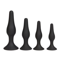 $enCountryForm.capitalKeyWord NZ - FREE SHIPPING!Full Silicone Butt Plug Set(4pcs set), Silicone Anal Sex Toy for Beginners, Sex Toys for Men and Women,Sex Products for Anal
