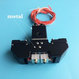 3d printer 3 extruder UK - Freeshipping New Design! Ultimaker 2+ Extended Ultimaker 3 3D printer Chimera Extruder Dual Extrusion W  Aluminum cross slider & Fan duct