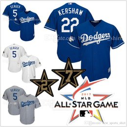 ec8fe8d05e9 ... Base 2017 All-Star Game 22 Clayton Kershaw 5 Corey Seager Mens Los  Angeles Dodgers jerseys ...