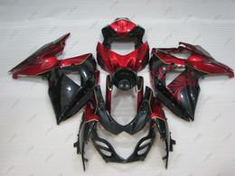 Fairing K9 Australia - Fairing Kits GSX R1000 2010 Body Kits GSX-R1000 13 14 Red Black Full Body Kits for Suzuki GSXR1000 2009 2009 - 2014 K9