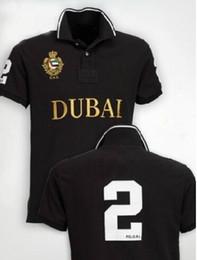 Camisa casual de alta calidad de los hombres de Berlín París Londres Nueva York Milan Dubai camisas de manga corta grandes camisetas de polo del bordado del caballo número 2 en venta
