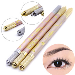 $enCountryForm.capitalKeyWord NZ - Multi-function Semi Permanent Eyebrow Makeup Pen Body Art Embroidery Fog Tebori Pen Double Head Use For All Microblading Blade Tattoo Needle