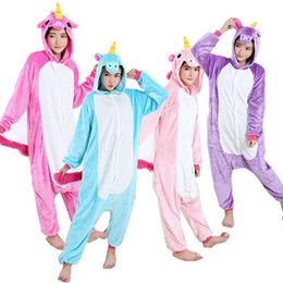 Animaux Adultes Pas Cher-Nico the Unicorn Adulte Pink Blue Unicorn onesie costume Femme Homme pyjama pyjama pyjama Jumpsuit party halloween cosplay costume