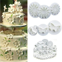 $enCountryForm.capitalKeyWord NZ - 2017 new 10sets Flower Leaf Shapes 33pcs Sugar craft Plungers Cutters rolling pin Cake Decorating Tools cookies molds