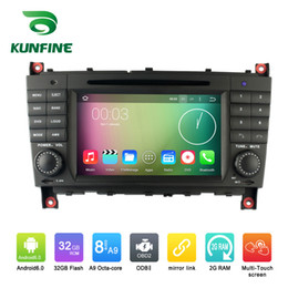 dvd tv stereo 2019 - Octa Core 1024*600 Android 6.0 Car DVD GPS Navigation Multimedia Player Car Stereo for Benz C-Class W203 2004-2007 with