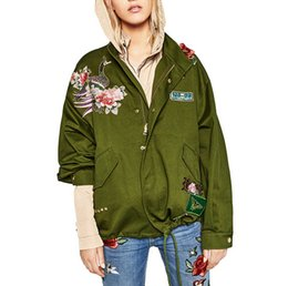 $enCountryForm.capitalKeyWord UK - women army green floral embroidery bomber jacket patched rivet design loose flight jackets casual coat punk outwear capa Woman clothing