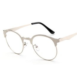 Chinese  Wholesale- Eyeglass Frame Eyewear Of Spectacles Frame For Male Grade Glasses Is Round And Semi-Rimless kly2979 manufacturers