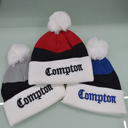30c3a217a5b Red gray blue fashion pom poms winter hat Embroidery logo knitted skullies  Cotton blens crochet beanies for men women