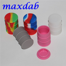 Oil Barrel Drum Canada - Wholesale Cheapest Silicone Oil Drum Barrel Container Large Butane Hash Oil Silicone Container dabber tool for dry herb jars dab