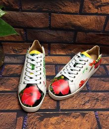 $enCountryForm.capitalKeyWord Canada - 2016 new Arrival brand luxury casual shoes Pure manual plating button nailing and Hawaii flower pattern women size:35-41 men size:38-46