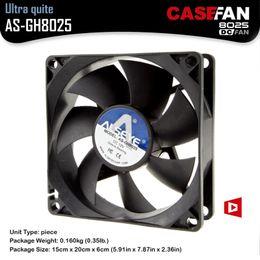 12v radiator fan 2019 - Wholesale- ALSEYE DC Cooling Fan for PC Case   CPU Cooler   Fan Radiator, 80mm Cooler DC 12V 3 Pin 1600RPM 8cm Fans chea