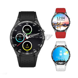 $enCountryForm.capitalKeyWord Canada - Luxury KW88 Smart Watch Android 5.1 Bluetooth GPS MTK6580 Smartwatch support 3G wifi Heart Rate 2MP Camera for android IOS Mobile phone
