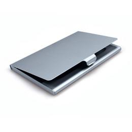 Vente en gros Nom de l'entreprise Titulaire de la carte d'identité en aluminium Titulaire de la carte de visite en aluminium Porte-cartes en aluminium Couleur argent