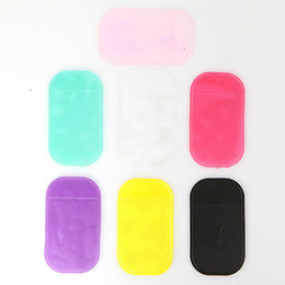 sticky silicon mat Australia - 14*8.0mm Silica Gel Magic Sticky Pad Holder Car Dashboard Sticky Pad Anti Slip Mat