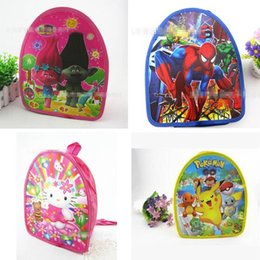 gift bags dhl shipping 2018 - Bags Trolls Printing Backpacks Schoolbags Casual Gift Bags For School Kindergarten Girls Boys DHL Free Shipping cheap gi