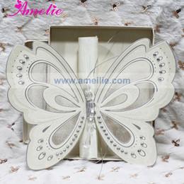Scroll Wedding Invitation Cards Canada - Wholesale- 50Pcs Lot Wholesale With Gift Box Elegant Wedding