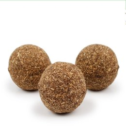 Chinese  Pet Cat Natural Catnip Treat Ball 3.5cm Favor Home Chasing Toys Healthy Safe Edible Treating Cats Articles 2 5pp J manufacturers