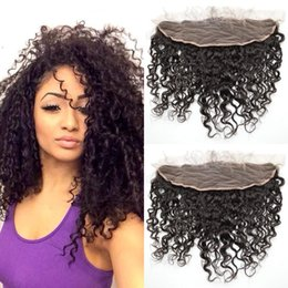 $enCountryForm.capitalKeyWord NZ - Deep Curly Brazilian lace frontal closure 13x4 unprocessed human hair deep wave Can be dyed full frontal closure G-EASY