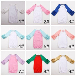 278ab8904fa6 Autumn Winter Baby's First Personalized Christmas Gown Sibling Pajamas Boy  Girl Ruffled Newborn Girl Take Home Outfit Baby Sleep Shower Gift