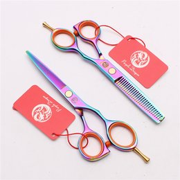 "Barber Thinning Shears Australia - Z1014 5.5"" Japan Purple Dragon Laser Hot Sell Professional Human Hair Scissors Barbers' Scissors Cutting Thinning Shears Salon Style Tools"
