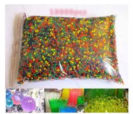 حار بيع 10000 قطعة / الحقيبة المياه الخرز الأعجوبة ل orbeez سبا عبوة الحسية لعبة لينة الكريستال رصاصة الألوان رصاصة crystalbullet watergunb