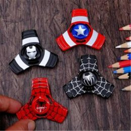 Vente De Jouets Adultes Pas Cher-Fidget Spinners Vente Iron Man Spider Man EDC Triangle Avengers Spinner à la main Tri Captain America Handspinner Jouets pour adultes ADHD Finger Gyro Toy