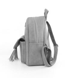 b3f708e0134f Wholesale- Solid Color New Tassel Women Backpacks Fashion PU Leather Lady  Backpack Fashion Girls School Bag Cute Female Backpacks Bag