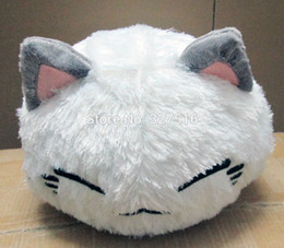 Discount neko doll - Wholesale- Wholesale and retail cartoon nemuneko sleeping cat soft plush doll toys cute neko styles cat pillow 38CM free