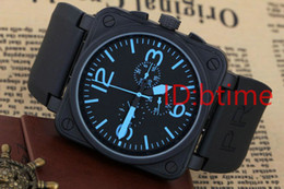 Wholesale white doves for sale - Group buy New Men s Automatic Mechanicl Hand Stainless Steel Watch Bell Aviation Limited Edition Dive Black Rubber Silver Blue Watches free shopping