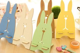 wooden stand for tablets 2019 - Wooden Stand Rabit Shape Cute Holder Universal Cell Phone Kickstand For Tablet ipad iphone 7 7plus Samsung Smartphone 10