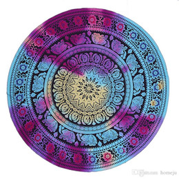$enCountryForm.capitalKeyWord UK - Mandala Round Beach Towels Printed Tapestry Hippy Boho Tablecloth Bohemian Beach Towel Serviette Covers Beach Shawl Wrap Yoga Mat Free Ship