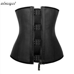 Slim Tummy Belt Canada - Wholesale- Latex shapewear zipper waist trainer Cincher Belt Postpartum Tummy Trimmer Shaper Slimming underwear waist trainer corset tops