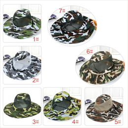 $enCountryForm.capitalKeyWord Canada - 2017 new camouflage sun net shade military hat breathable fishing hat man outdoor wide edge fisherman hat man Mo12